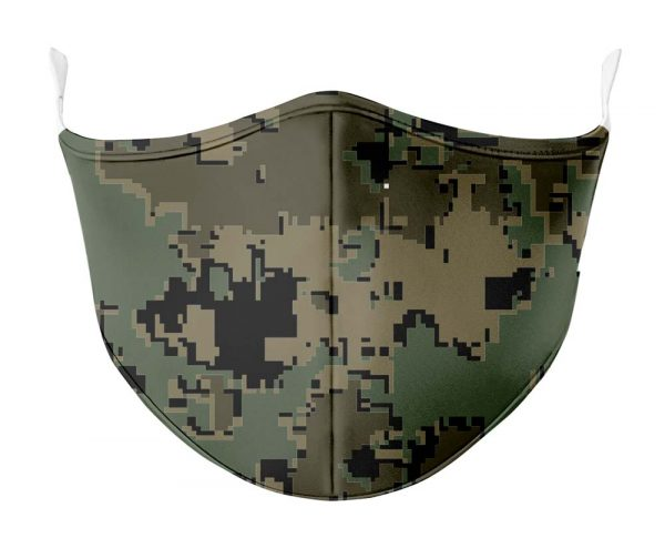 dark green digi camo face mask