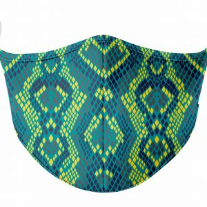 Turquoise-and-Green-Snake-Skin-Protection-Mask